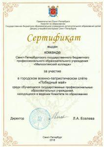 """Участие в городском военно-патриотическом слете """"Победный май"""""""