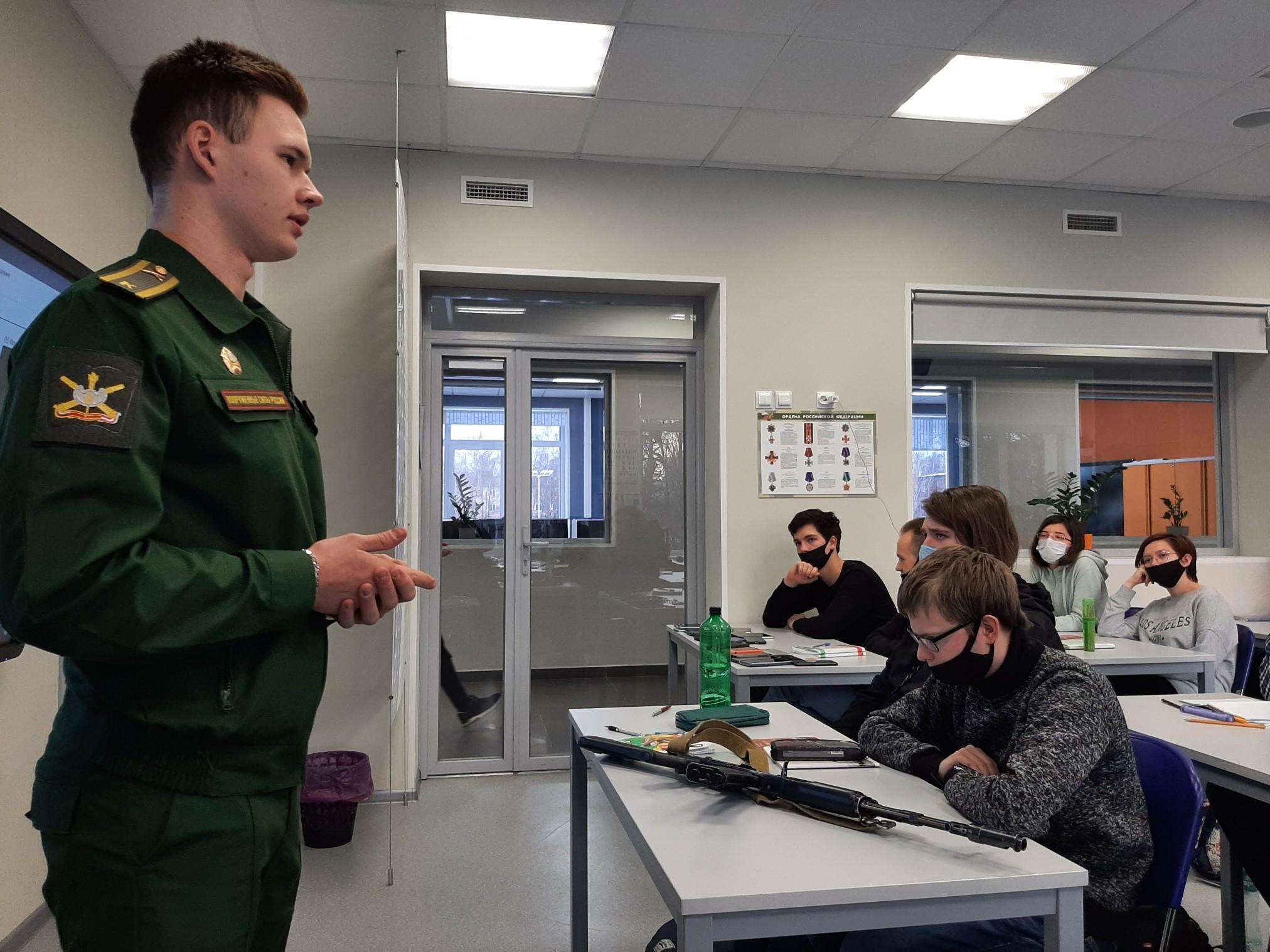 Профориентационная и военно-патриотическую встреча со студентами.